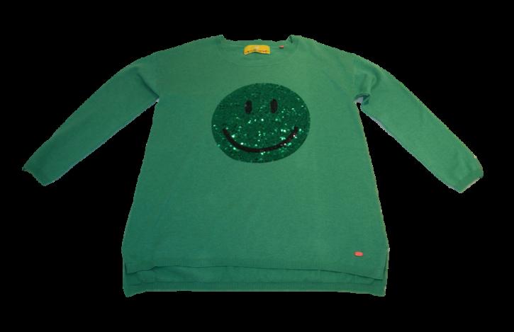 LIEBLINGSSTÜCK PULLI SMILY-GREEN FARBE 514 GREEN