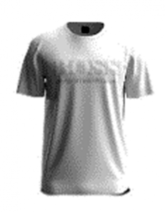 Hugo Boss Regular-Fit T-Shirt TEE PIXEL 1 aus Baumwolle mit Pixel Logo weiß 100