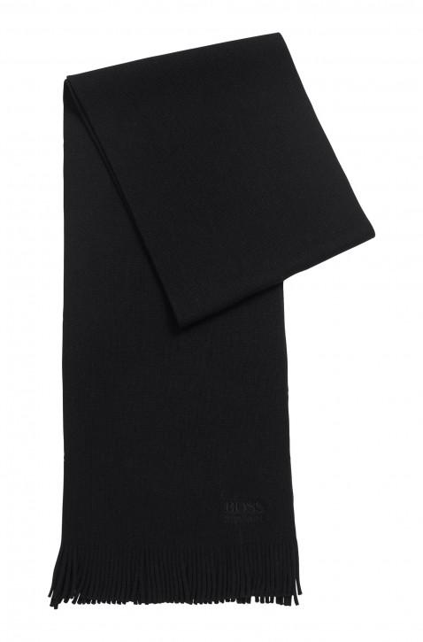 BOSS Strukturierter Oversized Schal ALBAS-B aus reiner Wolle