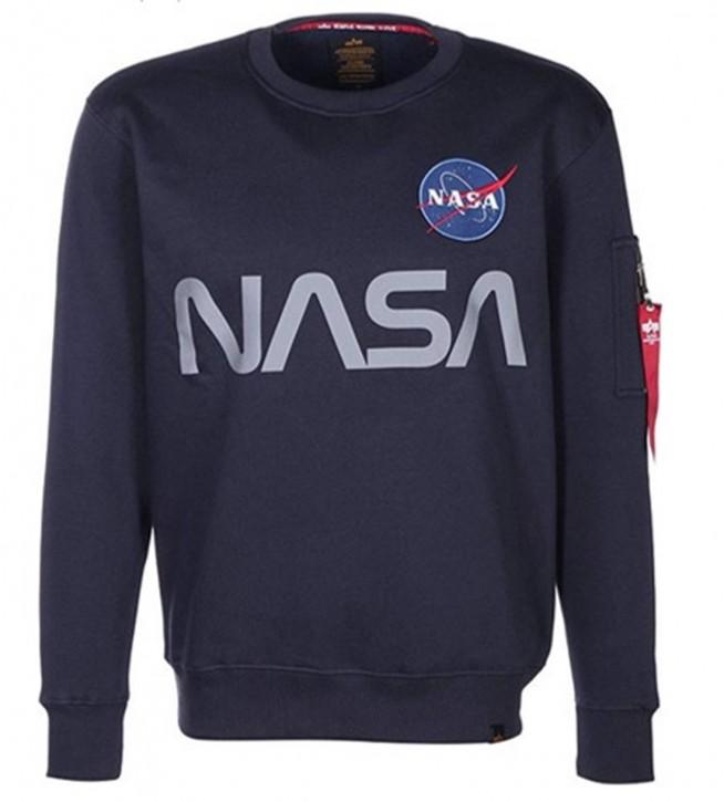 Alpha Industries Crewneck Sweater NASA Reflectiv rep. blue 07
