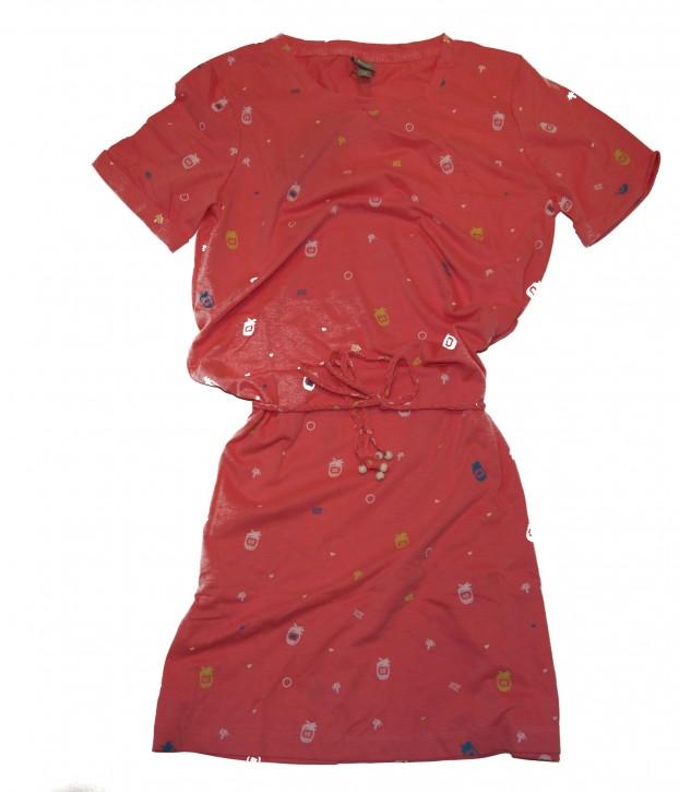 BENCH Damen Kleid Printed Jersey Dress mit Ananas print rosa 1457