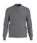 Hugo Boss Longsleeve-Poloshirt BONO aus italienischer Schurwolle grau 030