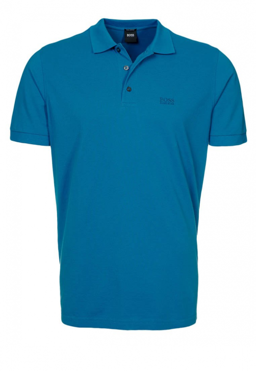 BOSS BLACK POLOSHIRT FERRARA FARBE 423 MEDIUM BLUE