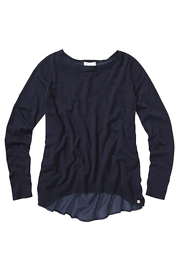 BOSS ORANGE PULLOVER ISSA  FARBE BLAU 408