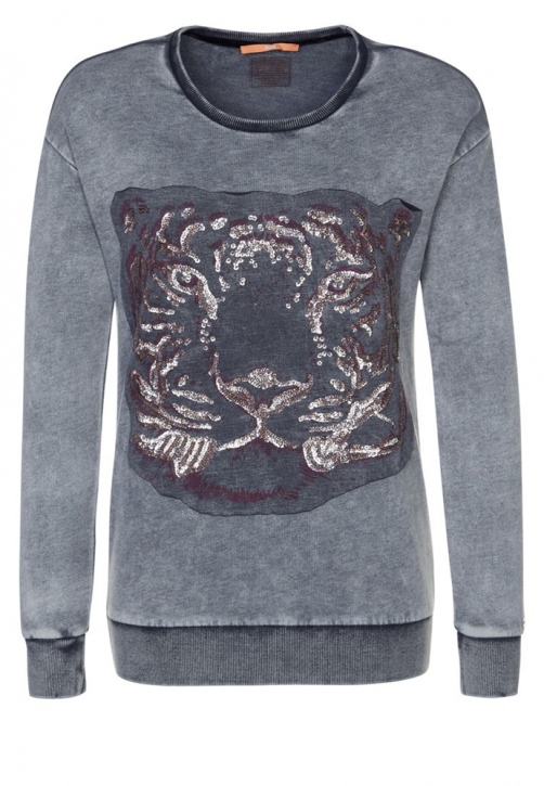 BOSS ORANGE SWEATSHIRT TILEA FARBE GRAU