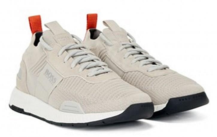 HUGO BOSS Sock-Sneakers Titanium_Runn_knst1 mit REPREVE®-Strick  beige 275