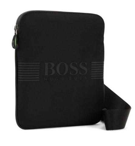 BOSS Umhängetasche Pixel_S zip env aus Funktionsgewebe mit gummierten BOSS Logo 001
