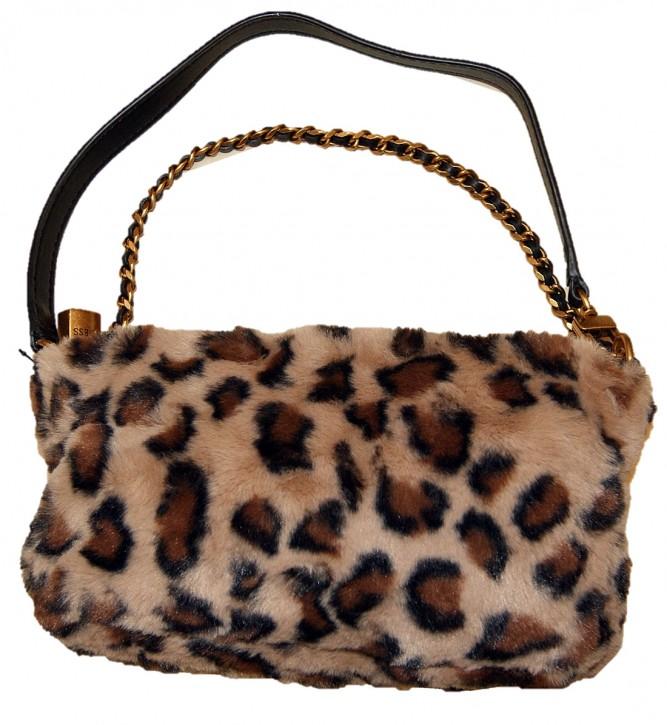 Guess KATEY LUXE MINI TOP ZIP Handtasche leopard