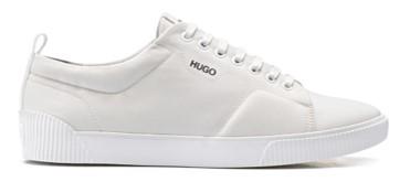 HUGO Sneakers Zero_Tenn_nypu aus wattiertem Nylon mit Kontrast-Logo weiss 100
