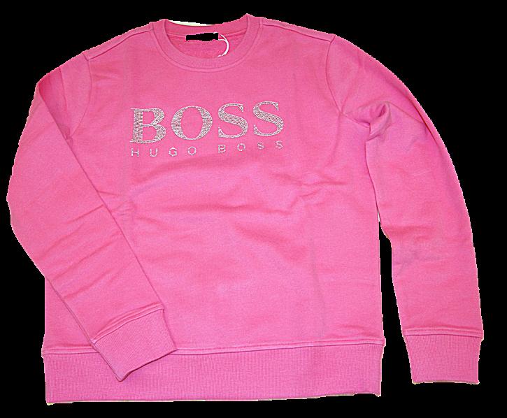 HUGO BOSS Sweatshirt C_Ebossa aus French Terry mit kristallbesetztem Logo Farbe pink 679