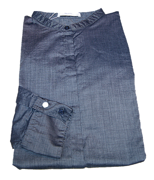 HUGO BOSS Relaxed-Fit Bluse C_BEFELIZE _18 aus Baumwolle dunkegrau 466