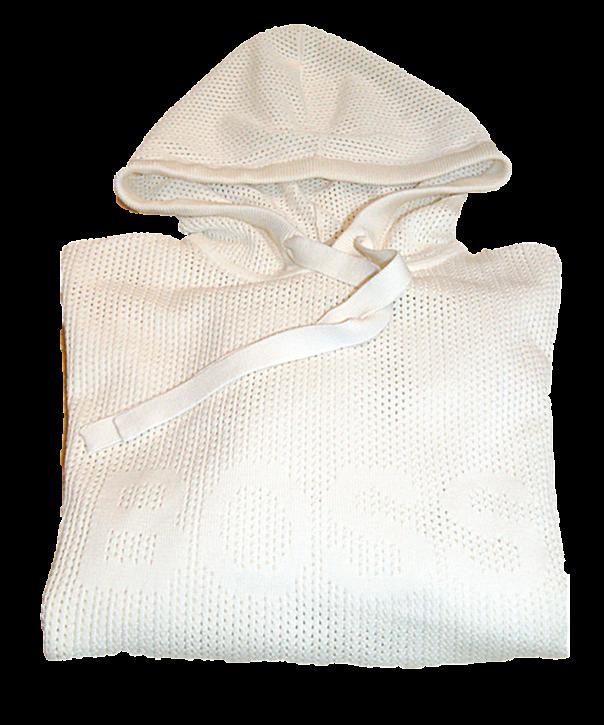 BOSS Damen Sweater C_Feddi mit Lochmuster und Boss Logo tonal beige 118