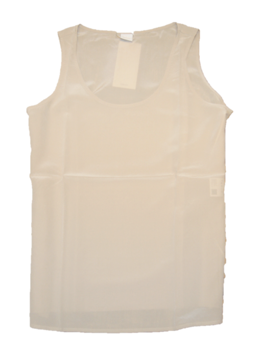BOSS Ärmellose Bluse CENDIA_2 aus reiner sandgewaschener Seide sand 267