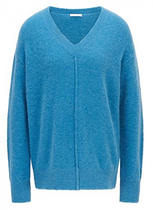 Hugo Boss Relaxed-Fit Pullover C_Fenail mit Naht-Details blau 421
