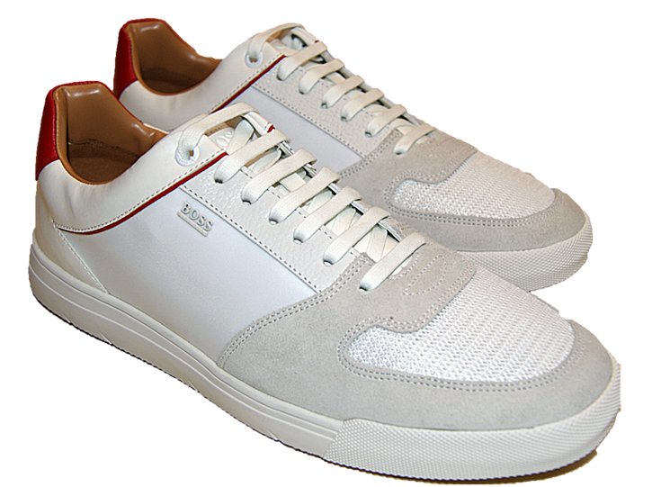 BOSS Sneakers Cosmopool_Tenn_mx1 mit Mesh-Einsatz weiss 126