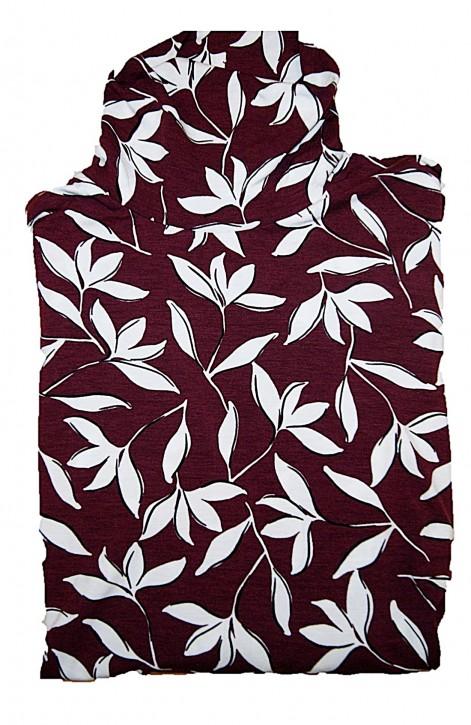 Hugo Boss Slim-Fit Rollkragen Shirt C_Emerie aus bedrucktem Stretch-Jersey Farbe rot 966