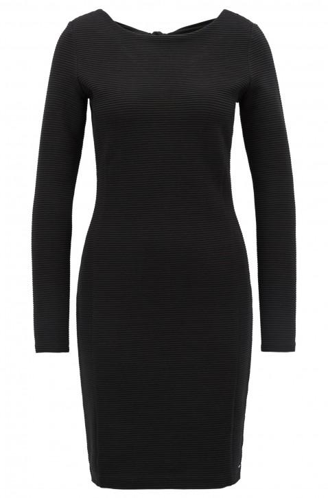 BOSS Bodycon-Kleid DAFEMME aus Ottoman-Jersey mit Schleife auf der Rückseite schwarz 001