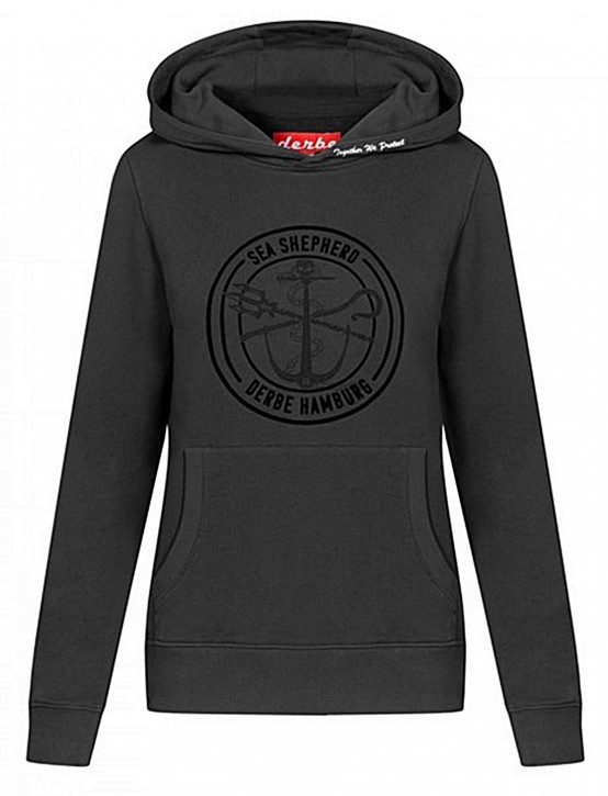 DERBE Sea Shepherd Kapuzensweat Shirt JF_Zope GOTS black
