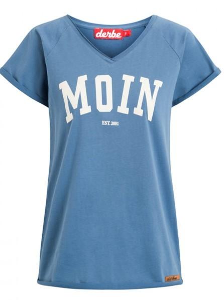 DERBE Moin Girls Damen T-Shirt Bijou Blue Blau 0149