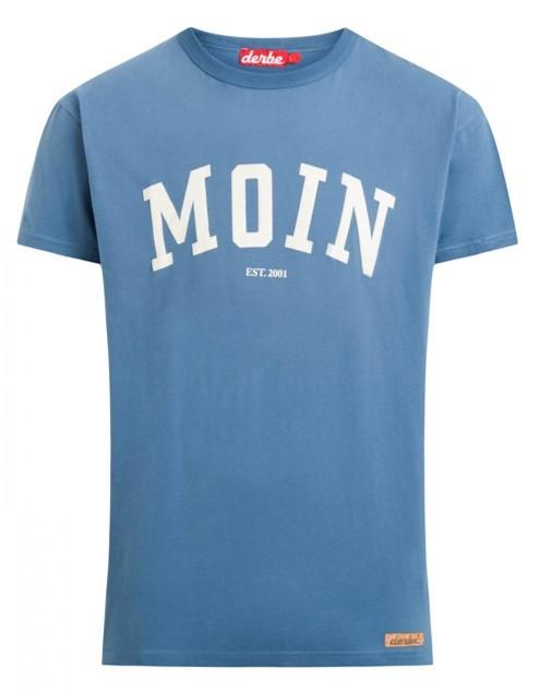 DERBE Moin Boys Herren T-Shirt Bijou Blue Blau 0149