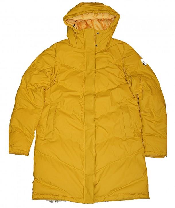 Derbe Damen Winter Steppmantel IPSHOLM mit Derbe Logo am Arm gelb 040