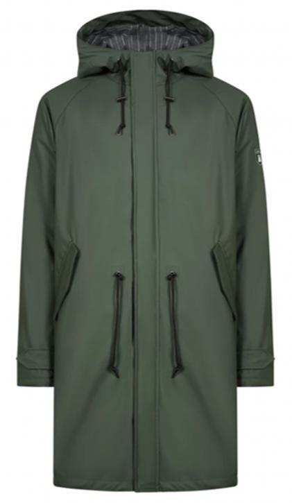 DERBE Männer Regenjacke  PU Friese Traveby Flannel  Farbe 050-091 olive phantom