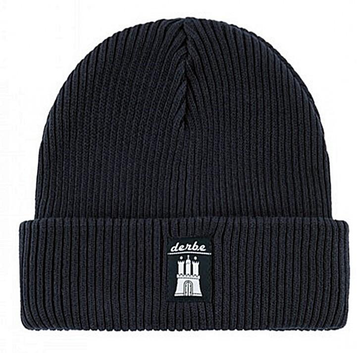 DERBE Koppover Gots Organic Navy Mütze Blau
