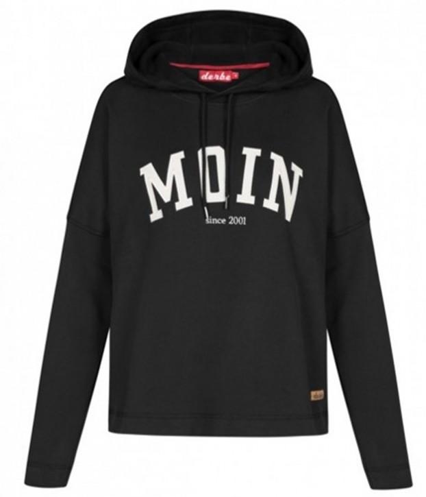 DERBE Damen Kapuzensweatshirt WOMEN_SWEATHD mit MOIN Logo schwarz