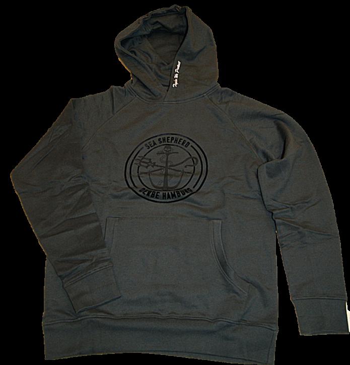 DERBE Sea Shepherd Kapuzensweat Shirt JF_ZOBEL GOTS  Farbe schwarz