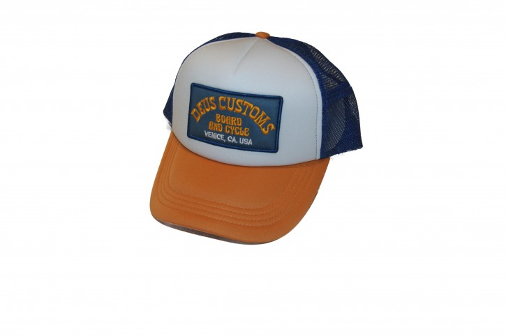 DEUS Cap SoupTrucker orange  one size w-o-b