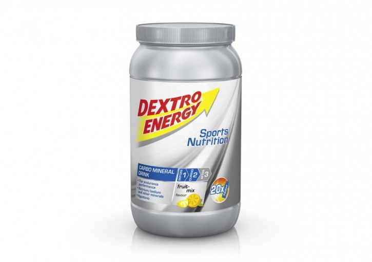 Dextro Energy IsoFast Fruit Mix / Hypotones Fitness-Getränkepulver mit Kohlenhydraten & Mineralstoffen für Ausdauersportler / 1 Dose (1120g)