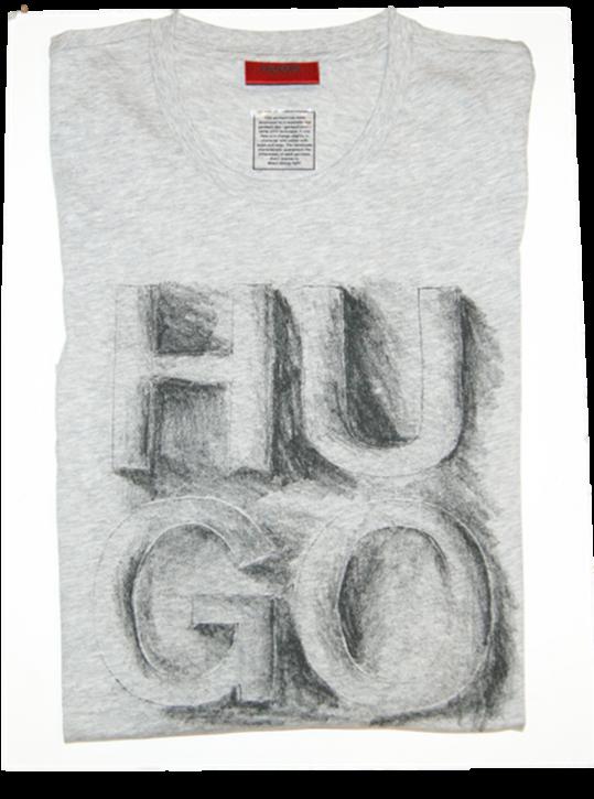 HUGO T SHIRT DONTI FARBE HELLGRAU 063