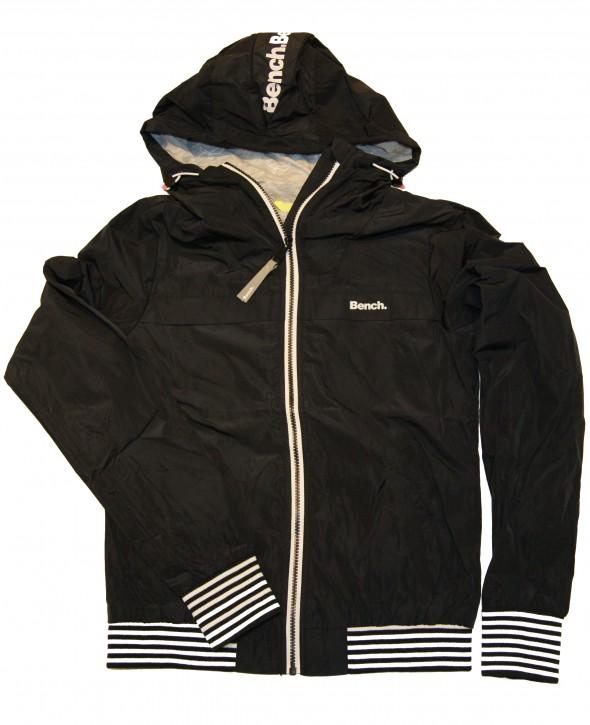 Bench Damen Blouson Jacke Easy Jacket Solid mit Streifenbündchen schwarz 11179
