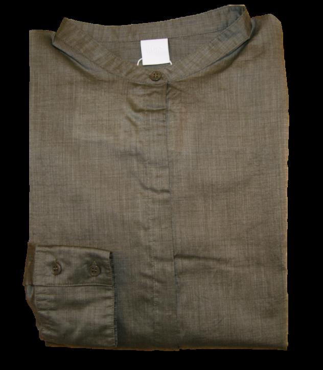 BOSS Relaxed-Fit Bluse EFELIZE _17 aus Baumwolle Mixdark beige 252