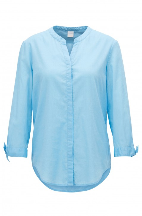 BOSS Relaxed-Fit Bluse Efelize_15 aus Chambray hellblau 451