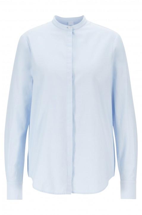 BOSS Relaxed-Fit Bluse EFELIZE _17 aus Baumwolle hellblau 460