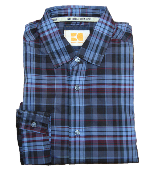 BOSS Slim-Fit Hemd ETILICOE mit Karomuster aus Baumwolle blau 623