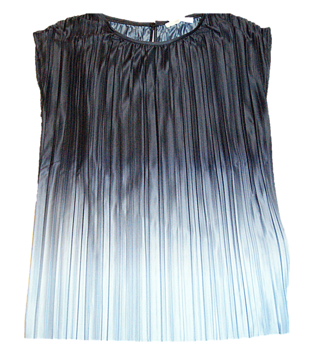Hugo Boss Damen Bluse EZZIE Ezzica aus italienischem Plissee-Stoff grau 963