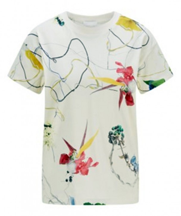 Hugo Boss Regular-Fit T-Shirt Eleas aus Baumwoll-Jersey mit Blumen-Print  multicolour
