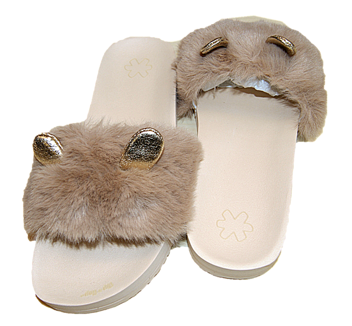 FLIP FLOP ORIGINALS pool fur*mouse coffee latte