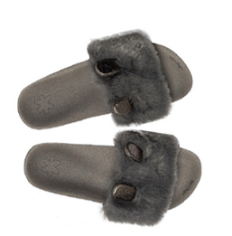 FLIP FLOP ORIGINALS pool fur*mouse dark grey