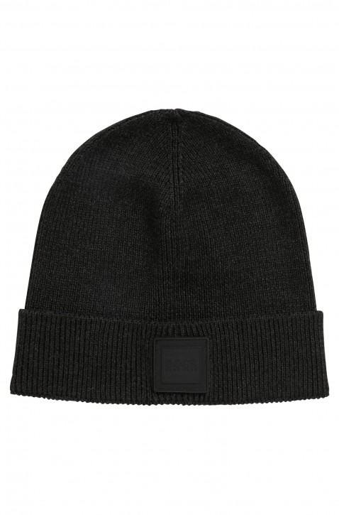 BOSS Mütze  FOXX mit Logo-Aufnäher aus Silikon schwarz 001