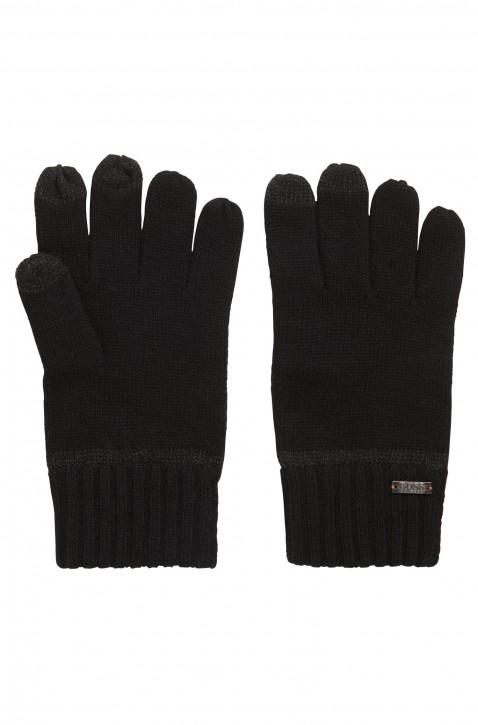 BOSS Strickhandschuhe GRITZ mit Touch-Tech-Fingerspitzen schwarz