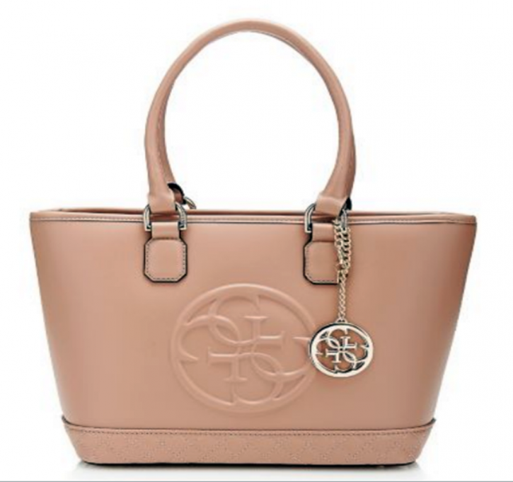 GUESS HANDTASCHE AMY MEDIUM  DOME SATCHEL ANTIQUE FARBE ROSE