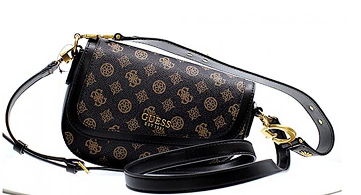 Guess Damen Handtasche  G Dream Flap Shoulde Farbe Mocha Multi