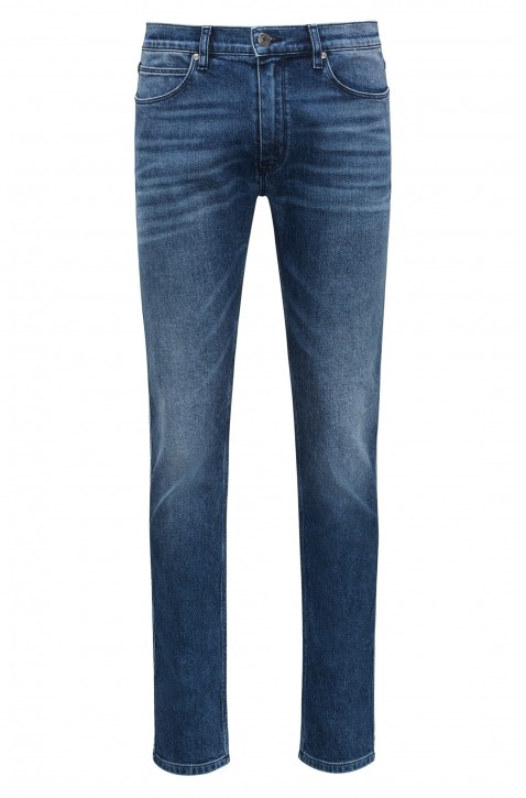 HUGO Skinny-Fit Jeans HUGO 734 aus gewaschenem Stretch-Denim Farbe 440
