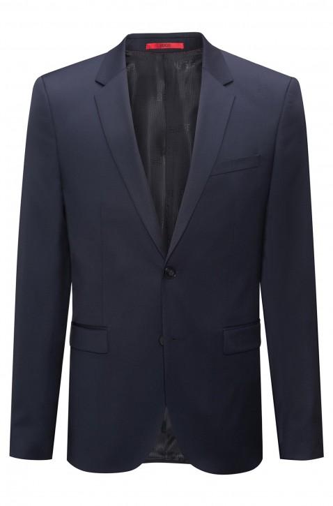 HUGO Extra Slim-Fit Sakko AldonS aus garngefärbter Schurwolle dunkelblau 401