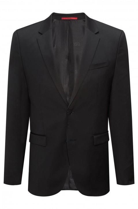HUGO Extra Slim-Fit Sakko AldonS aus garngefärbter Schurwolle schwarz 001