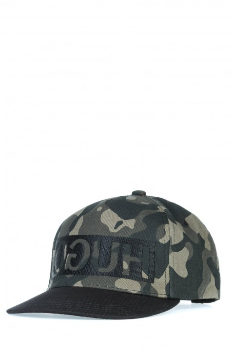 HUGO Cap MEN-X 536/4 mit Reversed-Logo aus Baumwoll-Gabardine mit Camouflage-Muster