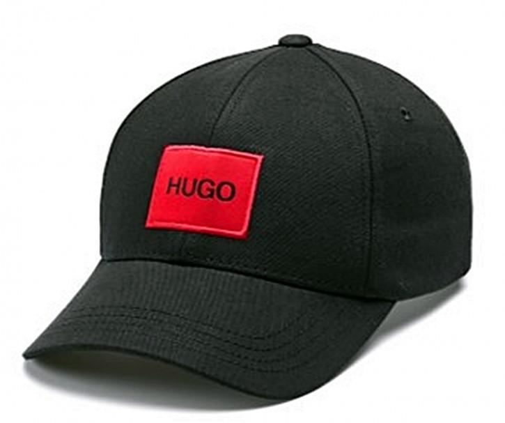 HUGO Cap Men-X 576 aus Baumwoll-Twill mit rotem Hugo Logo-Patch schwarz 001